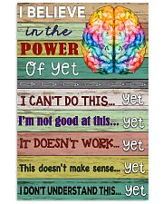 Power Of Yet Teacher  11x17 Poster front