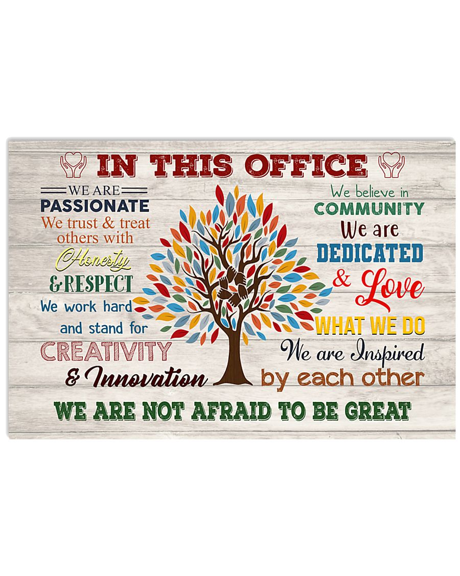 Social Worker We Are Not Afraid To Be Great 17x11 Poster