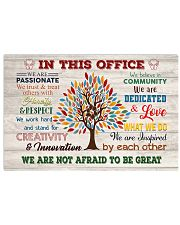 Social Worker We Are Not Afraid To Be Great 17x11 Poster front