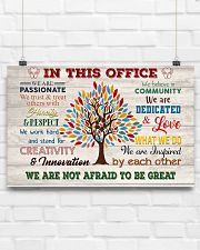 Social Worker We Are Not Afraid To Be Great 17x11 Poster poster-landscape-17x11-lifestyle-17