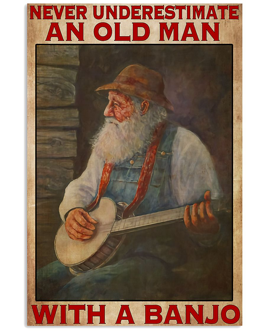 Banjo With Old Man 11x17 Poster