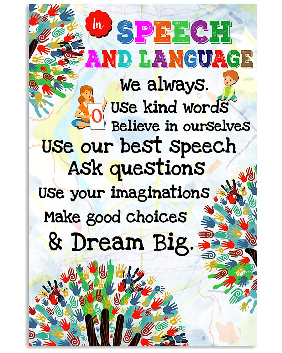 Speech Language Pathologist In Speech And Language 11x17 Poster