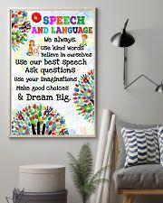Speech Language Pathologist In Speech And Language 11x17 Poster lifestyle-poster-1