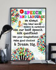 Speech Language Pathologist In Speech And Language 11x17 Poster lifestyle-poster-2