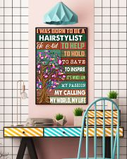 I was born to be a hairstylist  11x17 Poster lifestyle-poster-6