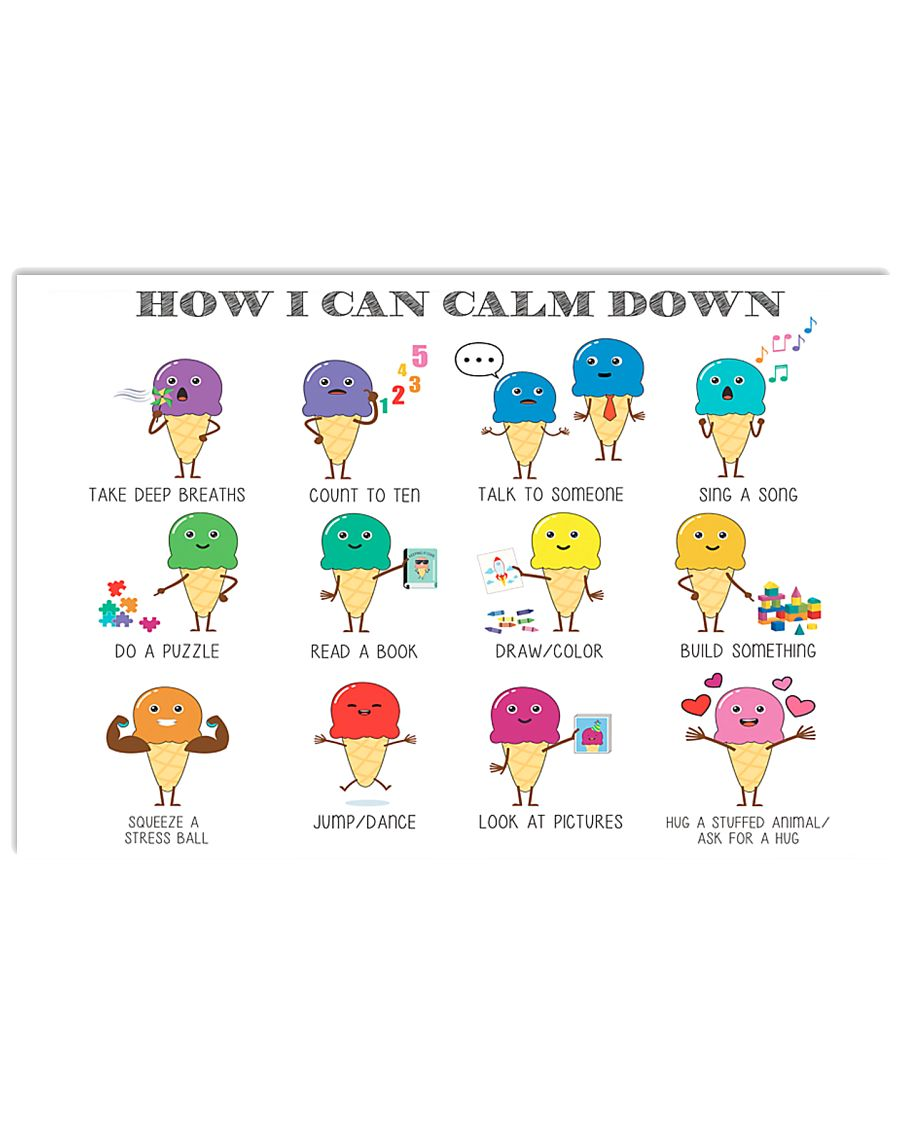 Social Worker How I Can Calm Down 17x11 Poster