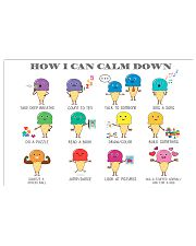 Social Worker How I Can Calm Down 17x11 Poster front