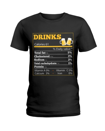 Nutrition Drinks calories 61