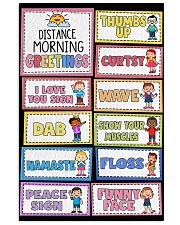 Teacher Distance Morning Greetings 11x17 Poster front