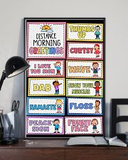 Teacher Distance Morning Greetings 11x17 Poster lifestyle-poster-2