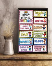 Teacher Distance Morning Greetings 11x17 Poster lifestyle-poster-3