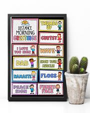 Teacher Distance Morning Greetings 11x17 Poster lifestyle-poster-8