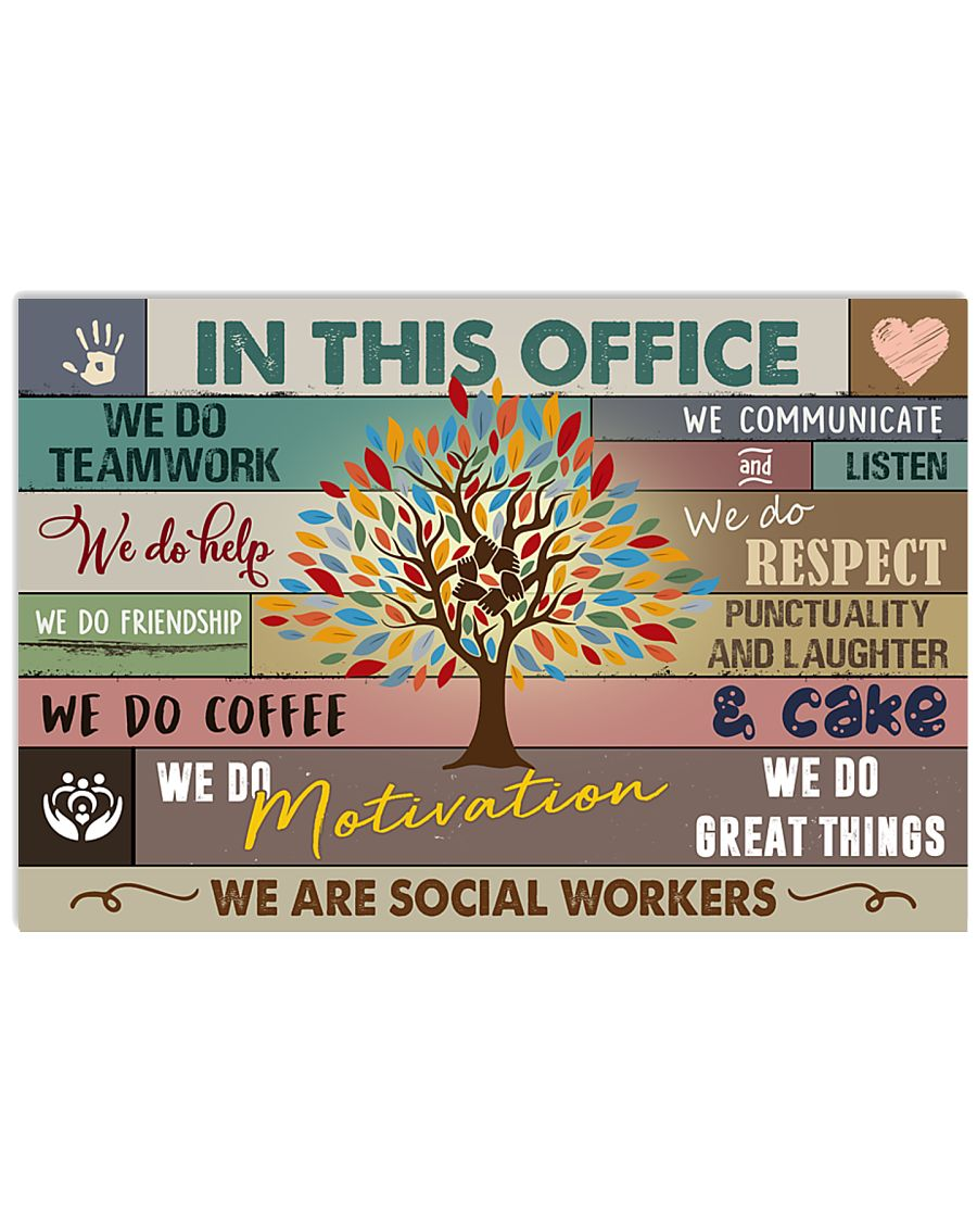 Social Worker In this office Poster 17x11 Poster