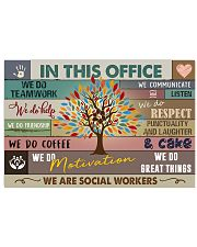 Social Worker In this office Poster 17x11 Poster front