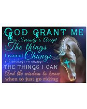 Horse Girl - God grant me the serenity  17x11 Poster front