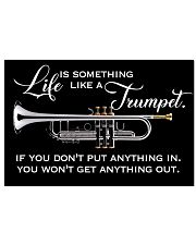 Trumpet Life Is Something Like A Trumpet 17x11 Poster front