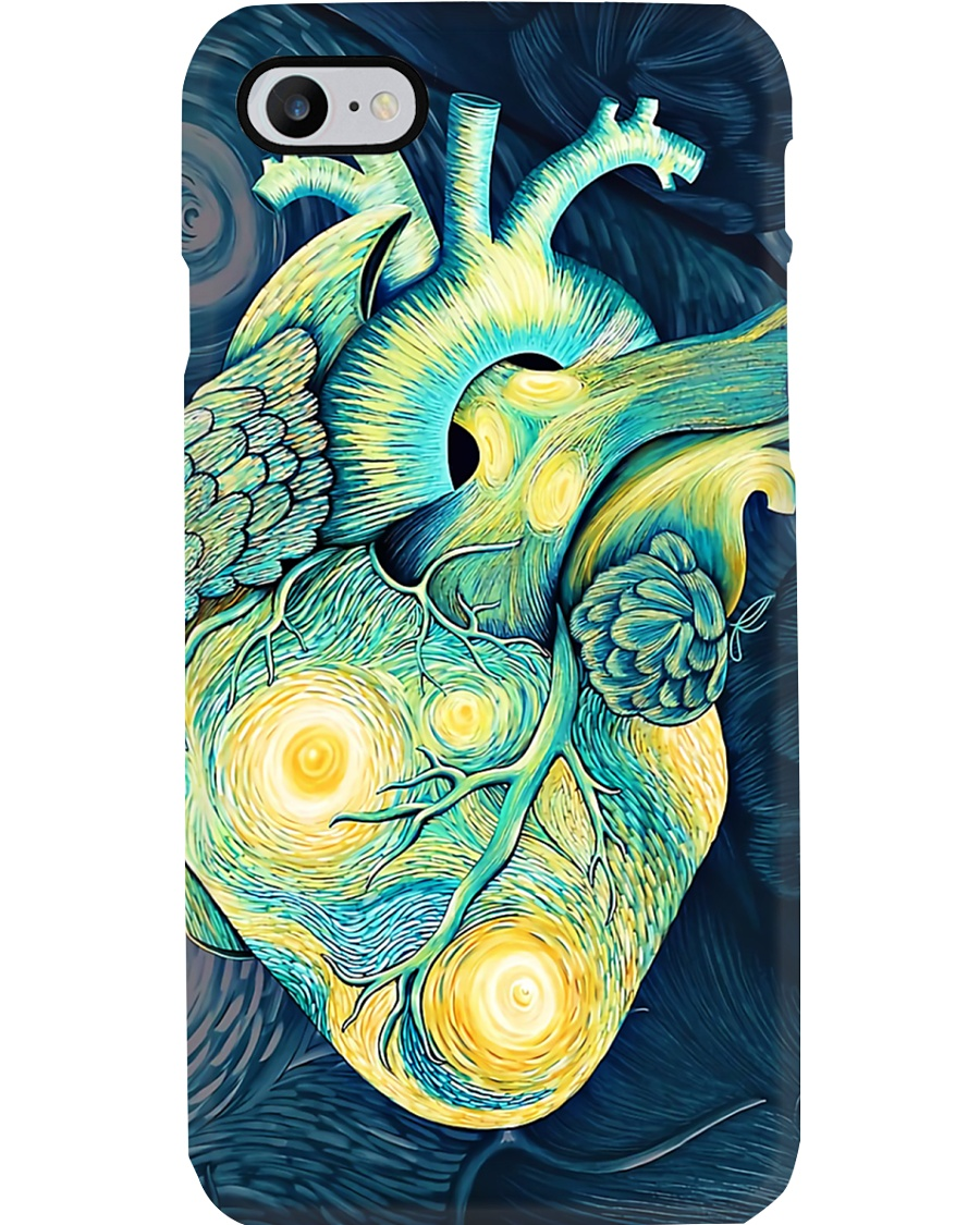 Cardiologist Starry Night Human Heart Phone Case