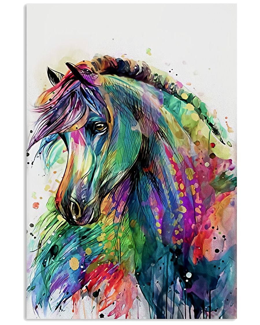 Horse Girl - Colorful Horse 11x17 Poster