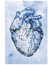 Blue Human Heart Cardiologist  11x17 Poster front