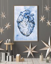 Blue Human Heart Cardiologist  11x17 Poster lifestyle-holiday-poster-1