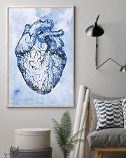 Blue Human Heart Cardiologist  11x17 Poster lifestyle-poster-1
