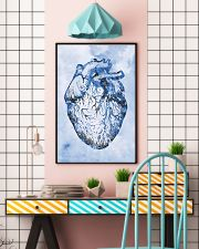 Blue Human Heart Cardiologist  11x17 Poster lifestyle-poster-6