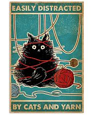 Knitting Easily Distracted By Cats And Yarn 11x17 Poster front