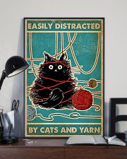 Knitting Easily Distracted By Cats And Yarn 11x17 Poster lifestyle-poster-2