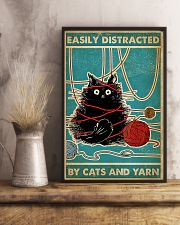 Knitting Easily Distracted By Cats And Yarn 11x17 Poster lifestyle-poster-3