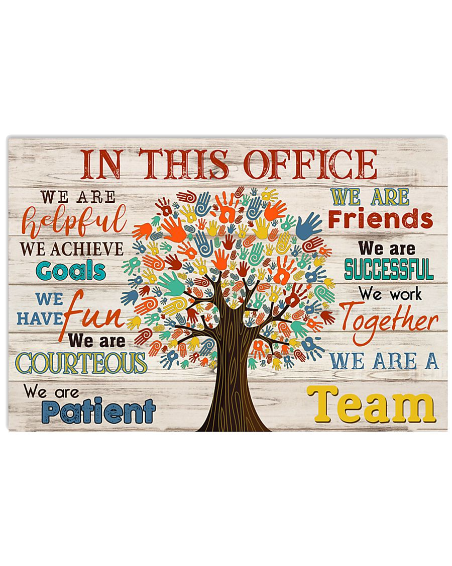 Massage therapist we are a team 17x11 Poster