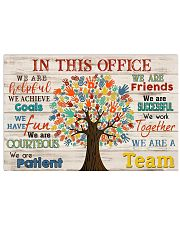Massage therapist we are a team 17x11 Poster front