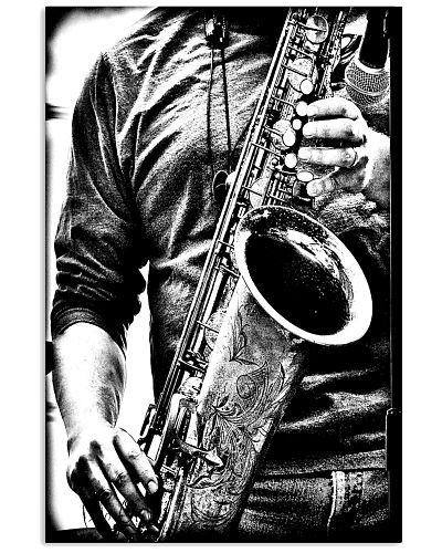 Saxophonist Saxophone Player Black And White