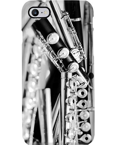 Art Black White Flute