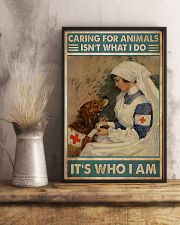 Veterinarian Caring For Animals It's Who I Am 11x17 Poster lifestyle-poster-3