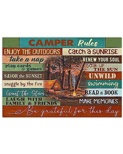 Camping Camper Rules