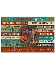 Camping Camper Rules  17x11 Poster front