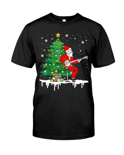Christmas Santa Playing Banjo Instrument