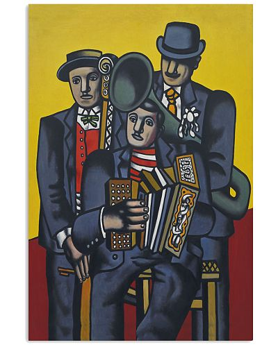 Accordion Three Men Group Art