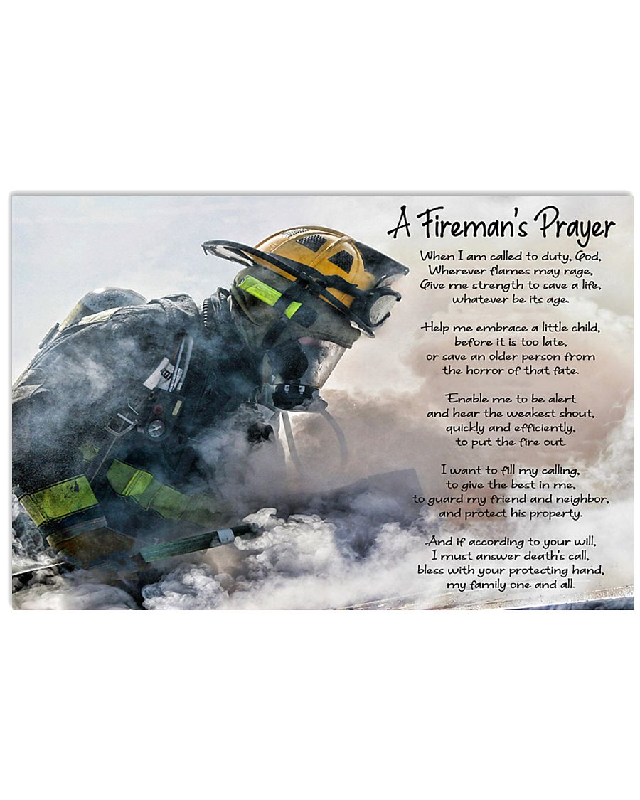 A Firefighters Prayer 17x11 Poster