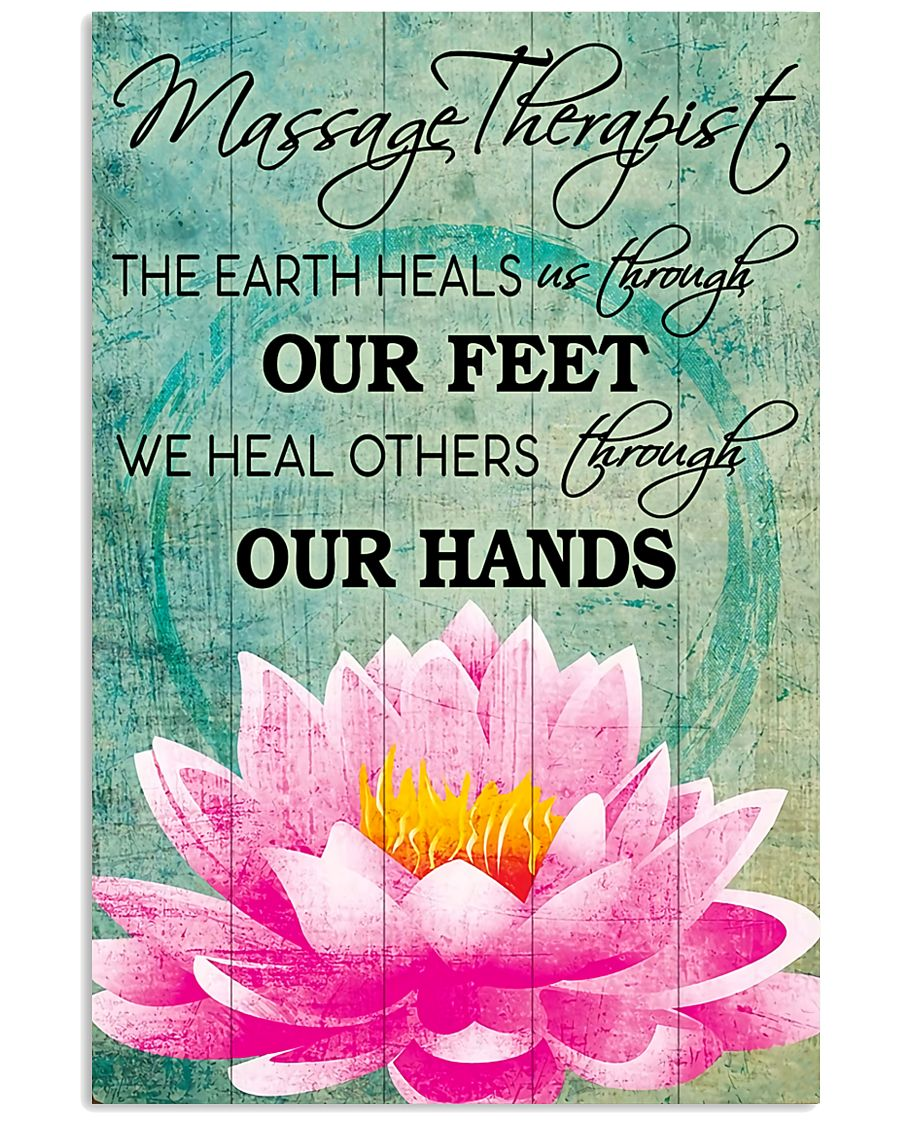 Massage Therapist We Heal Others Through Our Hands 11x17 Poster