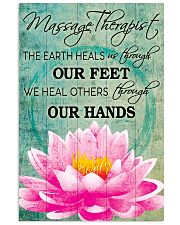 Massage Therapist We Heal Others Through Our Hands 11x17 Poster front