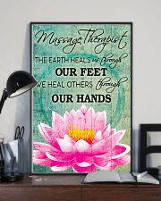 Massage Therapist We Heal Others Through Our Hands 11x17 Poster lifestyle-poster-2