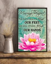Massage Therapist We Heal Others Through Our Hands 11x17 Poster lifestyle-poster-3