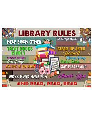Librarian Library Rules 17x11 Poster front