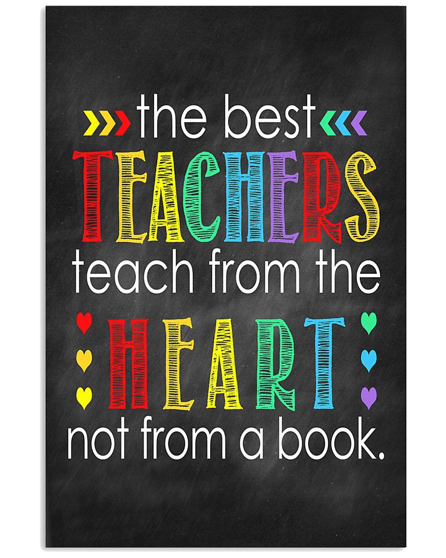 Teachers teach from heart 11x17 Poster