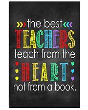 Teachers teach from heart 11x17 Poster front
