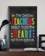 Teachers teach from heart 11x17 Poster lifestyle-poster-2