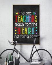 Teachers teach from heart 11x17 Poster lifestyle-poster-7