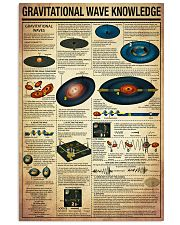 Science Gravitational Wave Knowledge Poster 11x17 Poster front