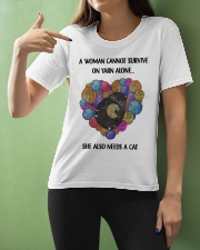 Crochet A woman cannot survive on yarn alone Ladies T-Shirt apparel-ladies-t-shirt-lifestyle-front-10